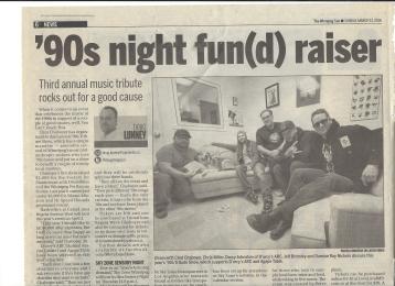Winnipeg Sun: 90s Show Fundraiser